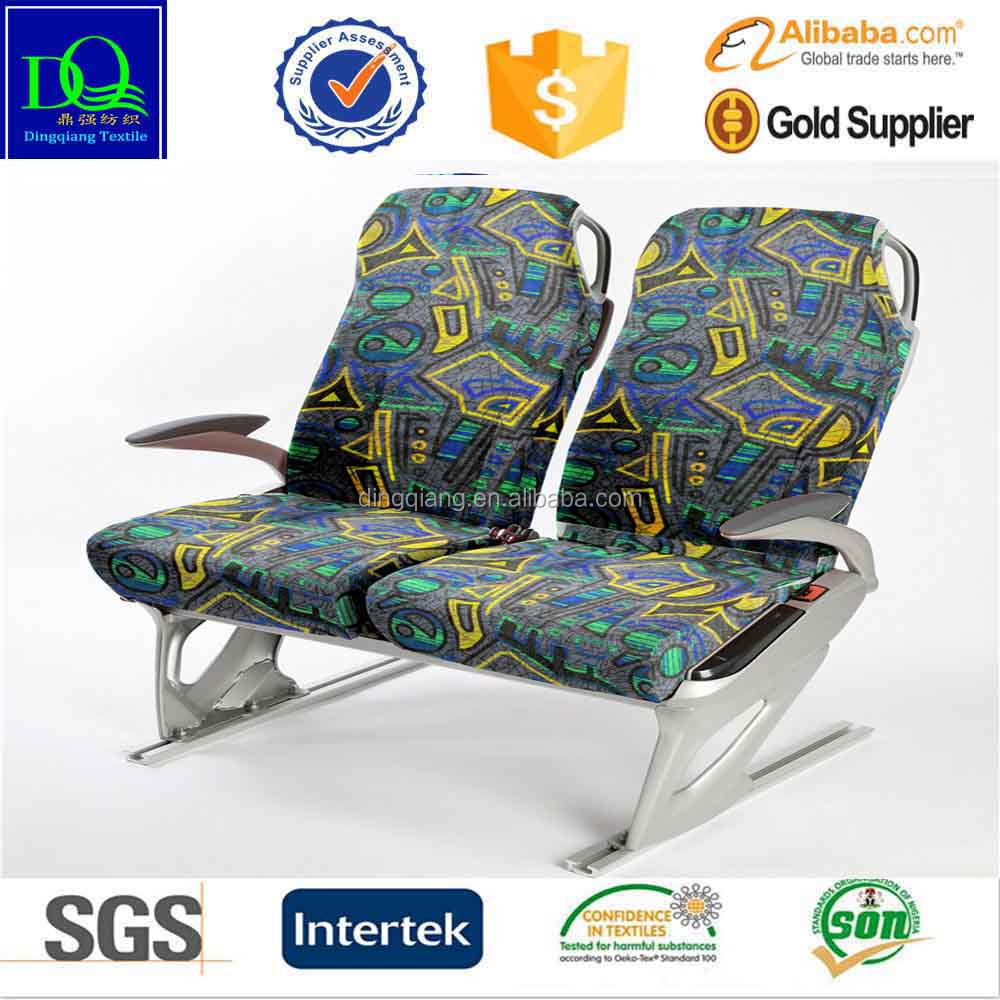 printed polyester bus fabric with 3mm foam