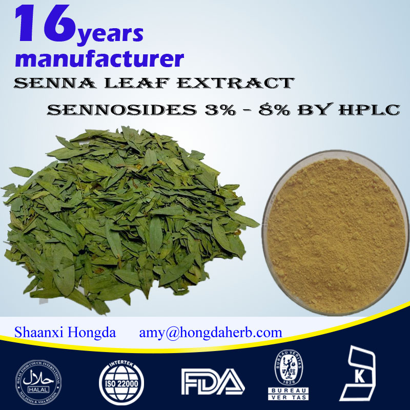Senna Leaf extract Sennosides 3%-8% by HPLC 100% Nature Pure Organic high quality healthy