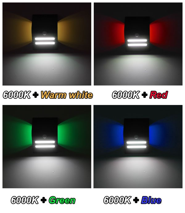 2016 Motion Sensor Solar Led Wall Lights Outdoor,1.5W Solar Wall Light