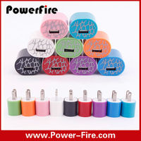 colorful Amp single USB Wall Charger flip down Plug Designed for Apple and Android Devices
