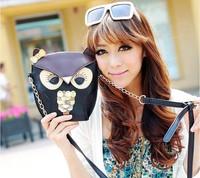 High quality Korean version retro messenger bag ladies mini handbag shoulder owl fox bags women chain PU bags