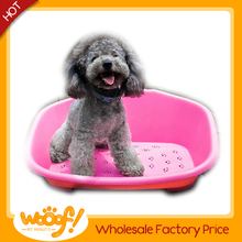 Hot selling pet dog products plastic dog bed