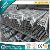mild steel pipes building materials hot dipped galvanized steel pipe