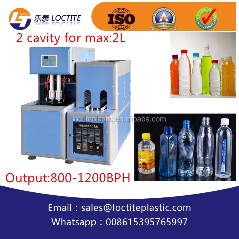 Stretch Blow Moulding Blow Moulding Type 2 Cavity PET Bottle Blowing Machine