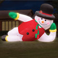 Christmas decoration giant inflatable snowman with led