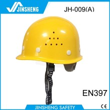 high quality round construction cheap lightweight safety helmet with chin strap