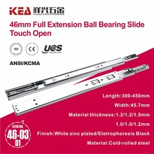 Soft close 46mm Full Extension Drawer slide for telescopic slide drawer