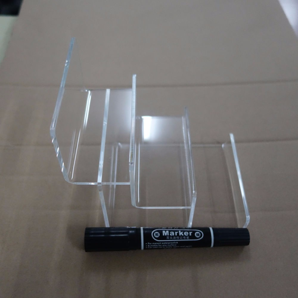 2PCS Clear Acrylic Two-layer Wallet Display Stand Holder Show Racks General