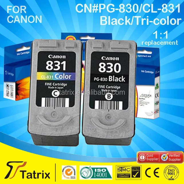 remanufactured inkjet cartridge / wholesale remanufactured ink cartridge for PG 830 / printer ink cartridge for Canon