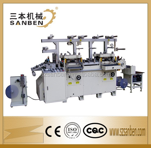 High Capability (SBM-320) 2-head Automatic Label Sticker Kiss Cut Die Cutting Machine with Bronzing Mould