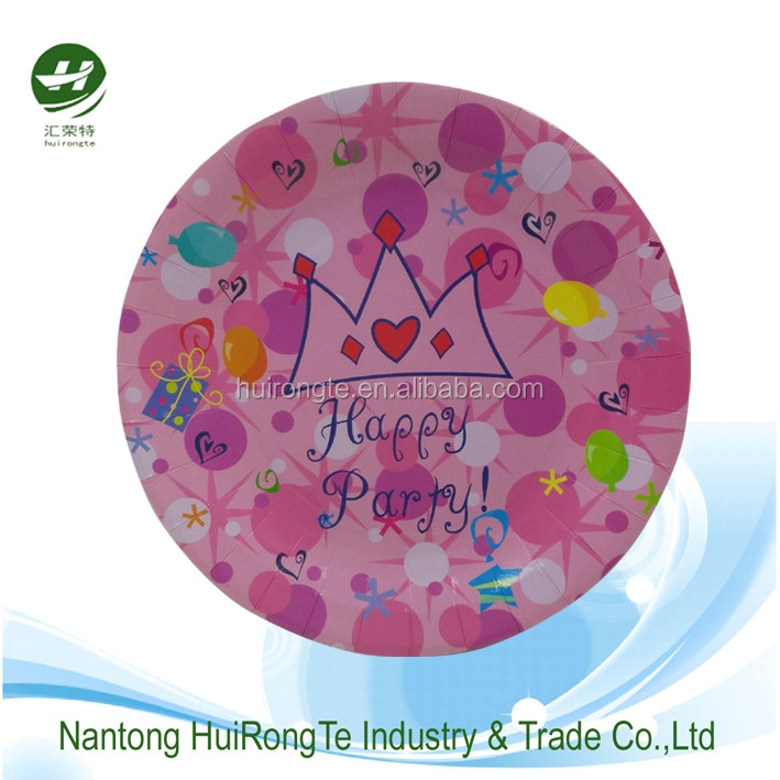 Round Custom Printed Paper Plates