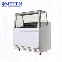 Hot sale high efficiency single row 7L small gelato display case for ice cream shop
