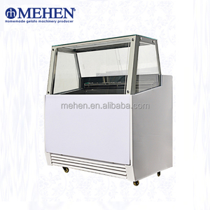 Hot sale high efficiency single row small gelato display ice cream show case