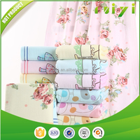 100 cotton gazue cloth carton printed jacquard baby bath towel