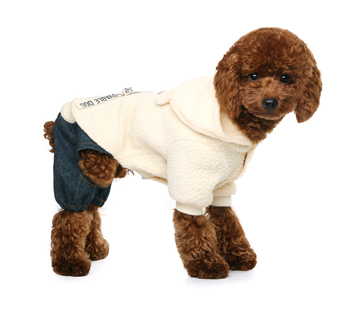 RoblionPet Cute Hoodies 4 Legs Pet Clothes Apparel Dog Clothing