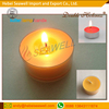 floated butter lamp/plastic cup tealight candles for spa, bar, party.
