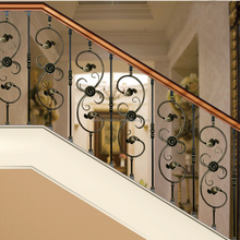 high quality outdoor staircase handrail terrace railing designs forged iron balustrade