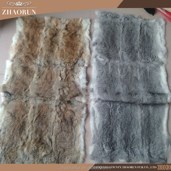 High Quality Natural Real Rabbit Fur Plate