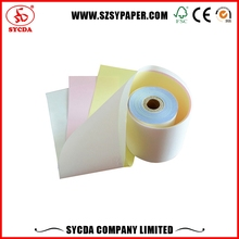 arbonless ncr paper roll 4-ply continuous carbonless printing paper for deposit receipt form