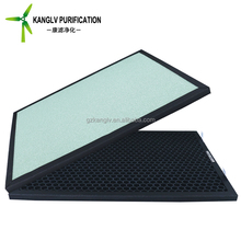 Odor filtration carbon activated media filter, hvac activated carbon air filters for smoking room