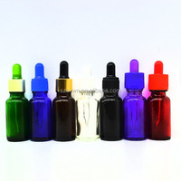Boston Round Colored Glass Bottles for essentials