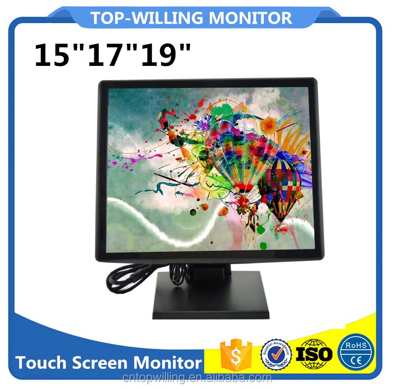 Square LCD Monitor 17 inch Computer Touch Screen Monitor IR/Resistive Panel