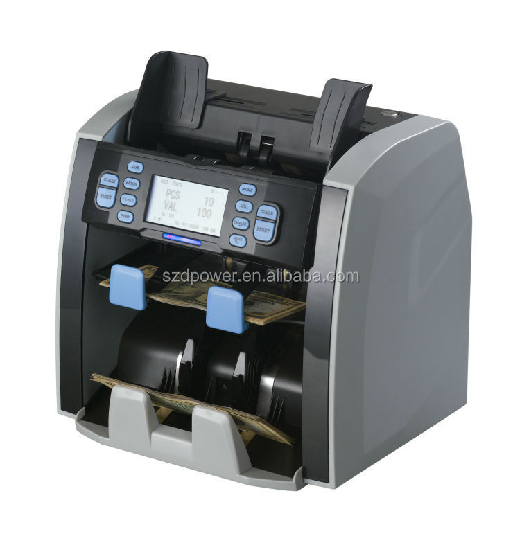 High quality two pockets currency money bill notes currency banknote sorter 8120/3