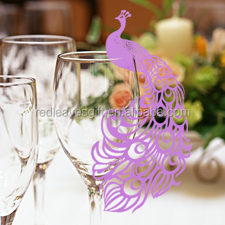 Promotional wedding decoration Party Event Table Decoration- Peacock Name Place <strong>Card</strong>