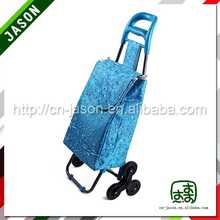 steel shopping trolley cart washed canvas duffle travel bag