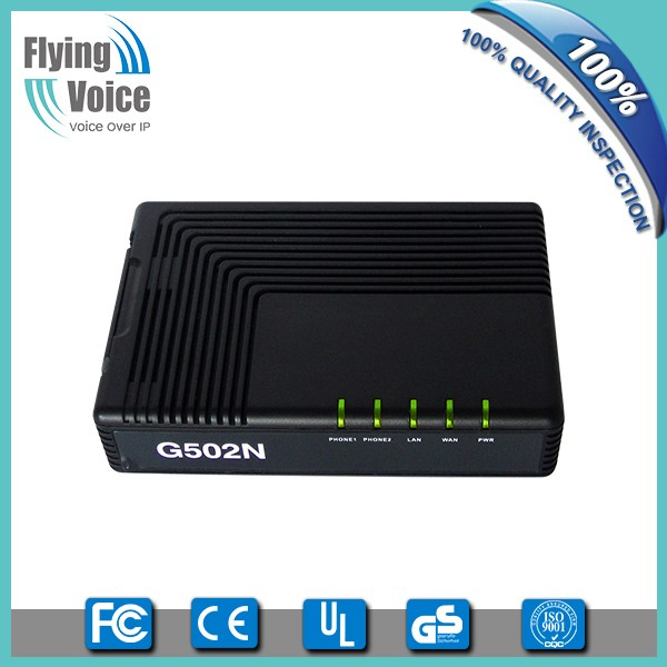 Best voip adapter with 2 fxs ports support open vpn Flyingvoice G502N