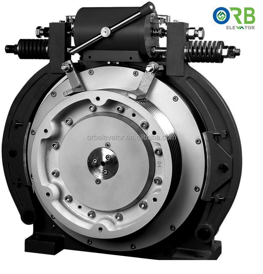 Elevator gearless traction machine PM motor