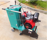 Professional diesel concrete road cutter with well porformance