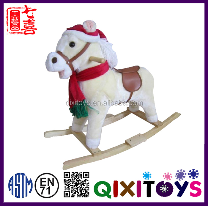 Popular and practical christmas decoration wooden horse
