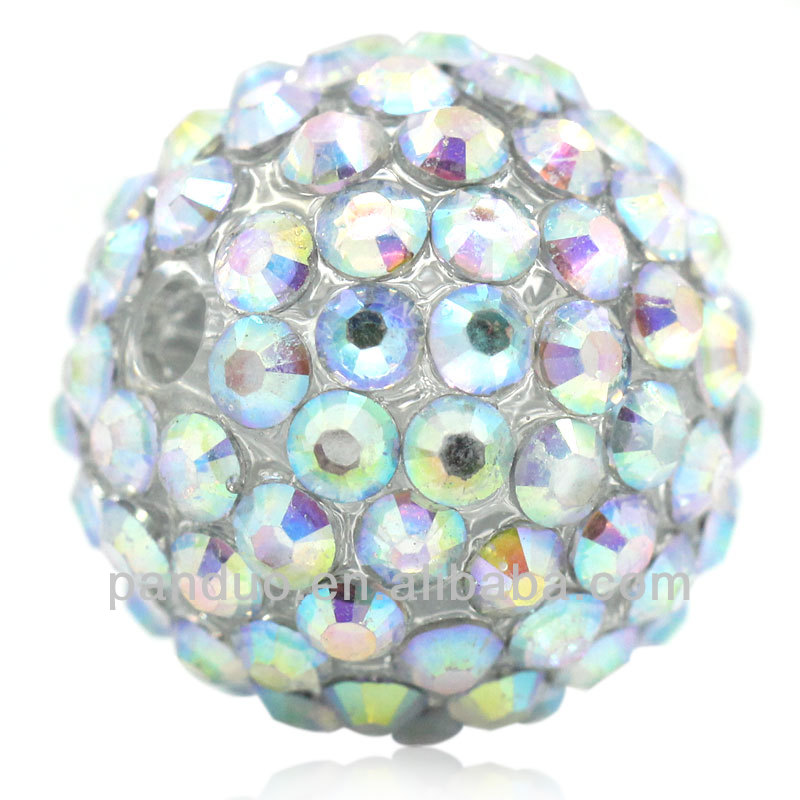 "20PCs AB Color Acrylic Rhinestone Resin Ball Beads 20mmx19mm( 6/8""x 6/8""),8seasons"