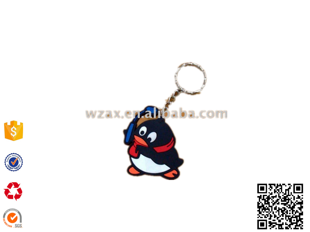 make QQ band Rubber KeyChain,QQ rubber keyring