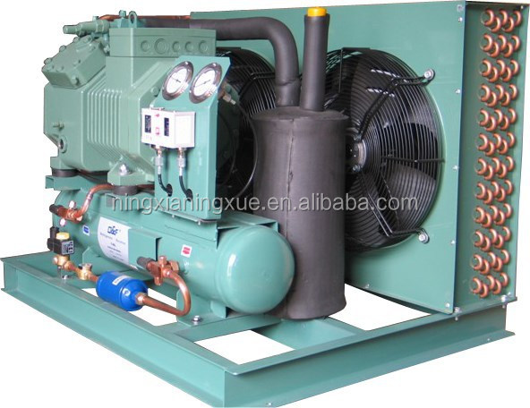 H TYPE Air cooled condensing units with bitzer piston compressor room