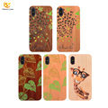 OEM Designs PC Printed Laser Carving Natural Wood Phone for iPhone X Case