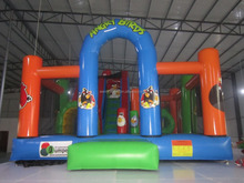 Child's play theme inflatable castle/beautiful inflatable water slide castle