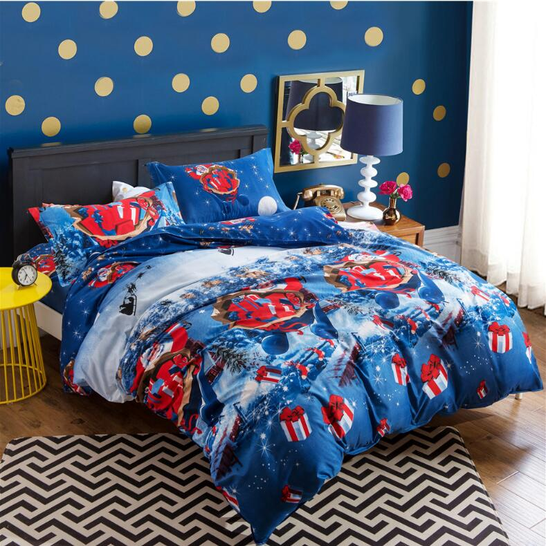 New hot Christmas senta bed duvet covers 3d bedding set kids cartoon comforter sets