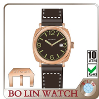 vogue wholesale china watch with imported japan movt wrist watch of Germany imported navy copper watch case
