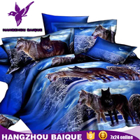 Home Textile Animal 3D Wolf Printing Bedding Sets