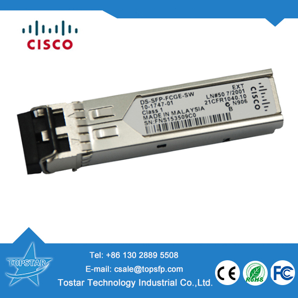 Original Cisco DS-SFP-FCGE-SW MMF 1.25GB 850nm sfp module for cisco 1700 router