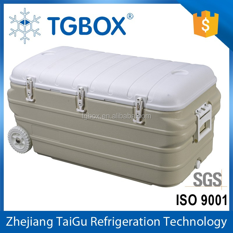 160L 150L PU Insulation Cooler Box With Wheels from China Facrtory