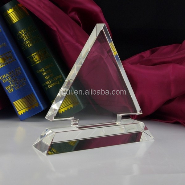 pyramid christmas tree shape plaque awards