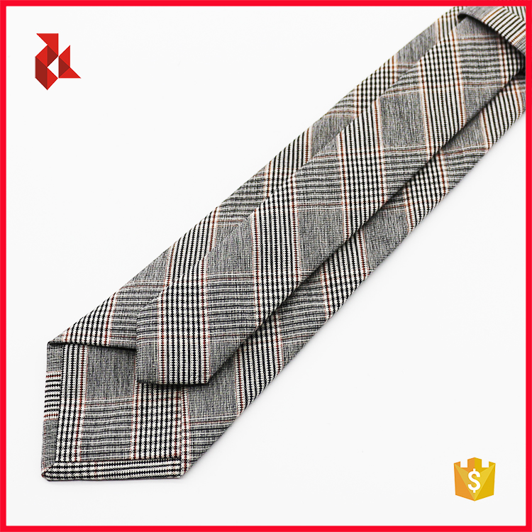 2018 New Fashion Mens Gingham Cotton Ties