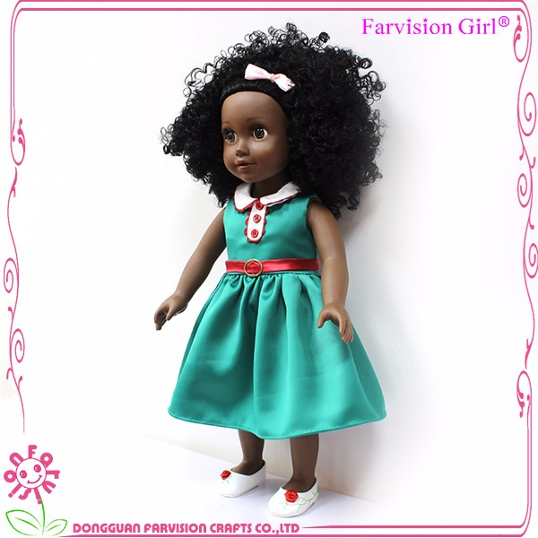 real look like child girl black fashion doll wholesale 18 inch black doll