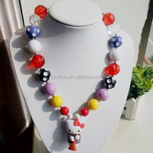 Cartoon doll pendant necklace wholesale latest design beads necklace wholesale price chunky beaded necklace