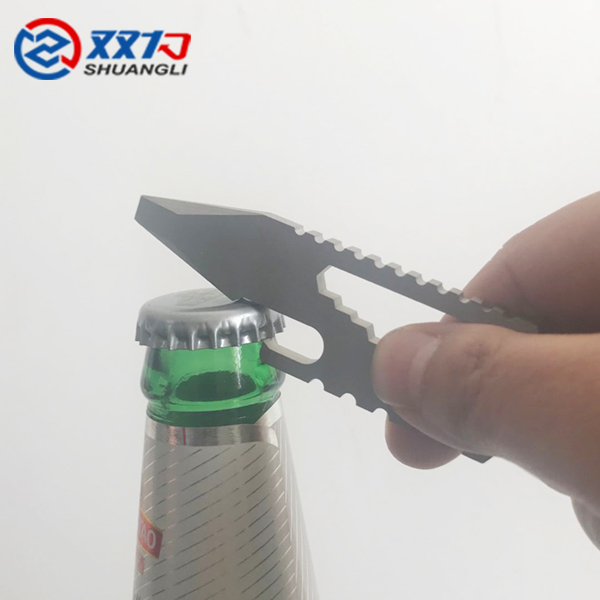 high quality EDC titanium bottle opener keychain