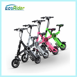 high speed lithium battery powered two wheel stand up chainless folding electric pocket bike
