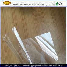 transparent 300 micron rigid PVC roll for drum wrap